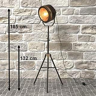 chemin_de_campagne Lampadaire Lampe Style Projecteur Industriel Fer 185 cm