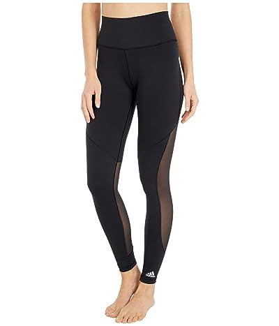 adidas Believe This 3-Stripes Studio Mesh Tights (Black/White) Women