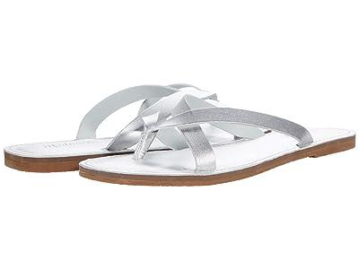 Madewell Boardwalk Thong Sandal in Metallic
