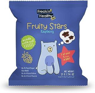 Freakin' Healthy Raspberry Fruity Stars Jelly, 21 g