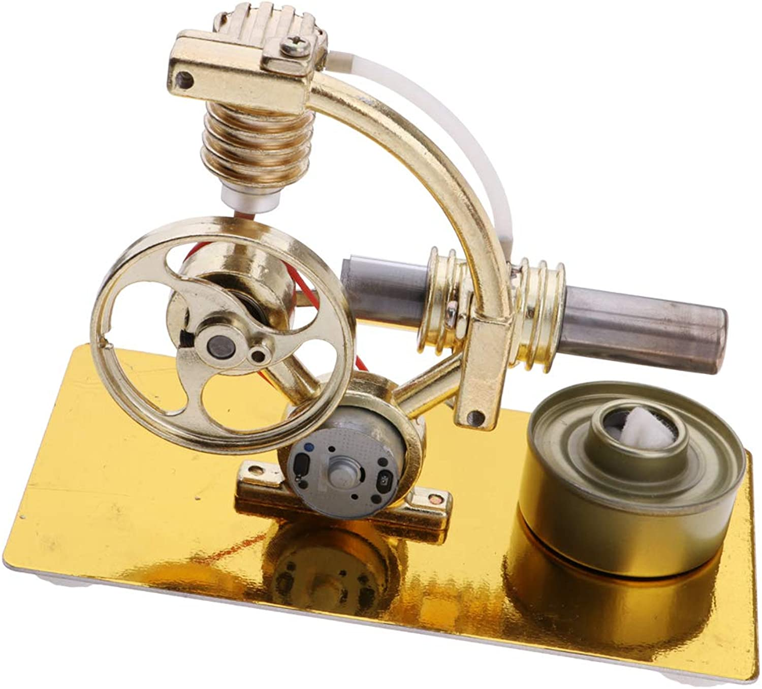 Fityle Mini Stirling Engine Motor Model Educational Toy Kits, Hot Air Steam Powered Toy, Physics Experiment