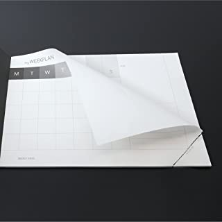 Idea regalo: Planning settimanale sottomano-dorso NERO OPACO-MY WEEK PLAN