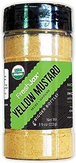 Best FreshJax Premium Organic Spices, Herbs, Seasonings, and Salts (Certified Organic Yellow Mustard Powder - Large Bottle) Review