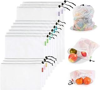 comprar comparacion Eono by Amazon - Bolsas Compra Reutilizables Ecológicas Bolsa de Malla para Almacenamiento Fruta Verduras Juguetes Lavable...