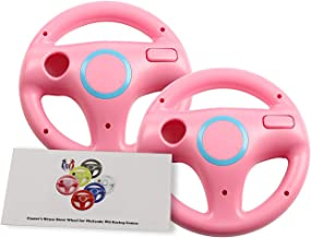 GH 2 Pack Mario Kart 8 Wheel for Nintendo Wii , Steering Wheel for Remote Plus Controlle - Peach Pink (6 Colors Available)