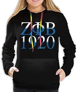 Zeta Phi Beta Logo Hoodies Women Casual Solid Color Hooded Sweatshirts