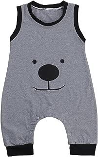 Canis Baby Boys Summer Sleeveless Lovely Bear Harem Romper Jumpsuit
