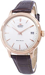 Orient Classic Mechanical Stainless Steel Rose Gold Dial Ladies Leather Watch RA-AC0010S - Brown