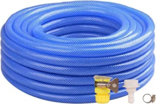 Garden Hose HAIYU- 1/2 Inch Household PVC Water Hose Pipe Flexible, Polyester Braid, Gardening/Irrigation/Car Wash/Home Cleaning, with Connection Kits (Color : 1/2 Inch, Size : 100m)