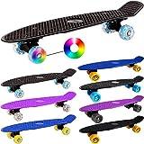 Atlantic Rift Retro Skateboard Pennyboard Retroboard | Oldschool Design | sicherer Halt | robuste Rollen | PU-Dämpfer -【Farb- und Modellauswahl】