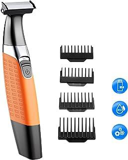 Cocoda Afeitadora Barba, Mojado y Seco Afeitadora Electrica Corporal Hombre y Mujer, Inalámbrico USB Recargable Híbrida Precisión Recortador de Barba y Bordeadora con 4 Peines Guía
