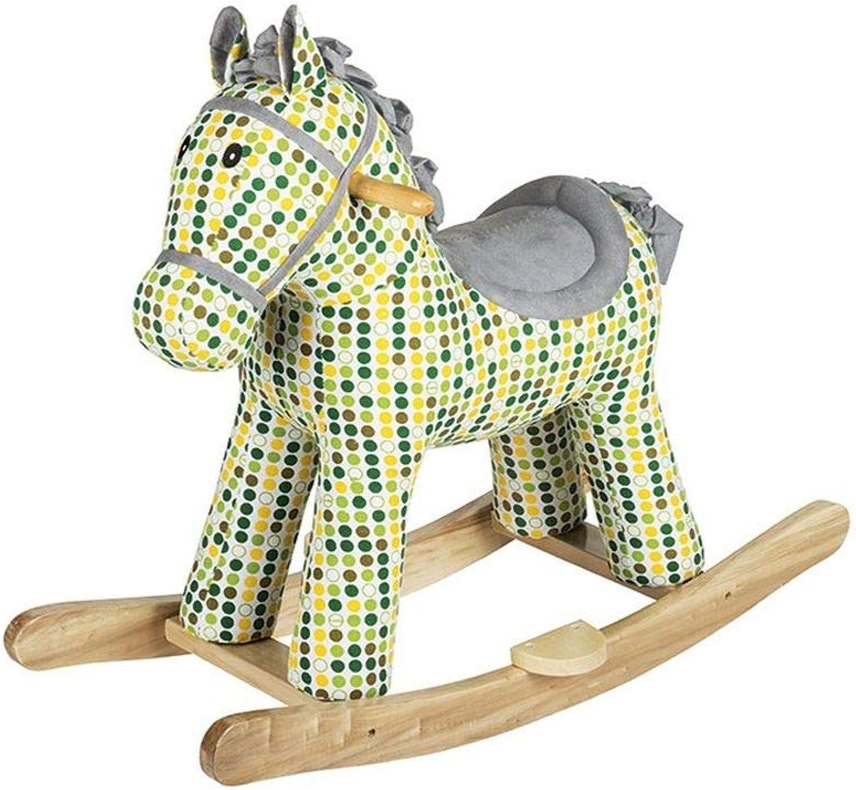 John Deere Schaukelpferd Für Kinder - Robuste Holzkonstruktion