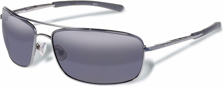 Gargoyles Barricade Performance Sunglasses, Matte Gun Frame Smoke Lens