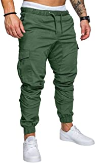 Luck Man Men Pants Hip Hop Harem Joggers Pants Male Trousers Mens Joggers Multi-Pocket Pants Sweatpants