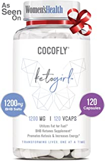 COCOFLY Ultra Fast Keto Boost - 1200 mg KetoGirl Burn Pills for Women, Utilize Fat for Energy, Super Rapid Ketosis, Enhanced Pure BHB Salts, 6X Advanced Weight Loss Supplement, Slim Exogenous Ketones