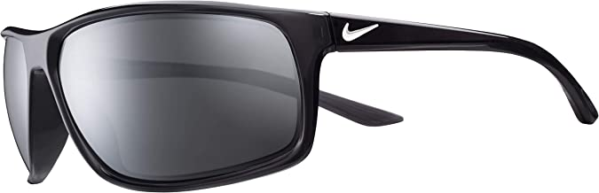 Nike Eyewear Men's Nike Adrenaline Polarized Rectangular Sunglasses, Anthracite/White, 66 mm