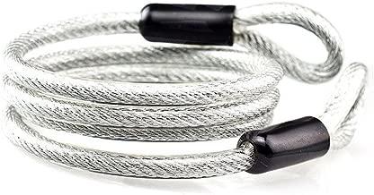 Aspen Cable de Lazo de Bloqueo de Seguridad de Bloqueo 100 cm (Plata)