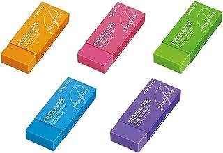 コクヨ 消しゴム リサーレ プレミアムタイプ 5点セット (青、緑、ピンク、オレンジ、紫)