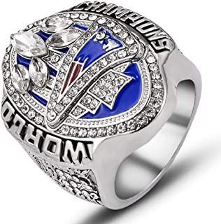 AJZYX New England Patriots 2017 Super Bowl Ring NFL Replica Championship Rings Collectible Souvenir for Fans Size 9-12