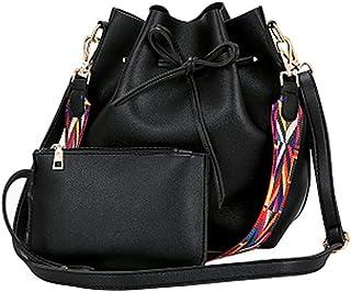 f3b242c961 TOOGOO 157782A1, Sac pour femme à porter à l'épaule Noir Noir Taille unique