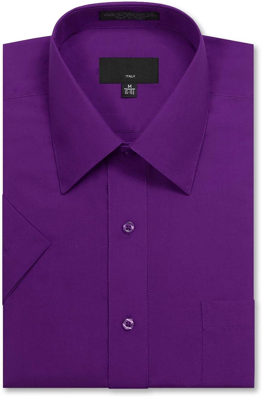Allsense Men's Regular Fit Short-Sleeve Dress Shirts