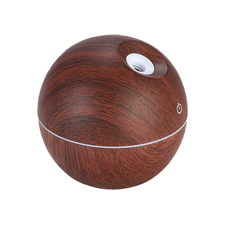 ちょっと待って上向き皿ミニオフィスホーム車アトマイザーディフューザー空気清浄機超静かな木目調アロマセラピーマシン加湿器 (サイズ: 9.7 * 9.7 * 9.7 センチメートル),B