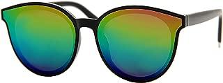Cat Eye Mirrored Lenses Oversized Sunglasses