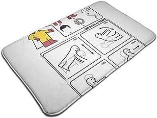 HUTTGIGH Hero Type S Ikea - Felpudo antideslizante para puerta de entrada de baño, cocina, 19,5 x 31,5 pulgadas