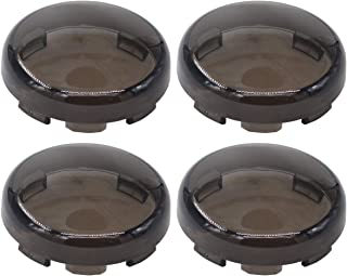 XtremeAmazing Pack of 4 Front Rear Turn Signal Light Smoke Lens Lense Cover Cap for Harley Sportster Street Glide Road King Softail