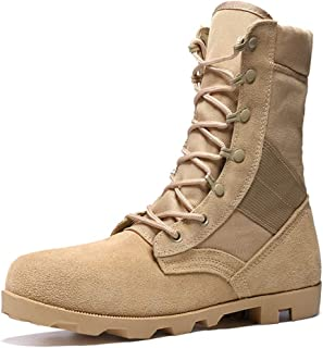 Dr. Martin Unisex Boots Wild high-top military boots leather breathable short boots trend tooling ankle boots casual wear short boots casual wear short boots (Color : Brown, Size : 45)