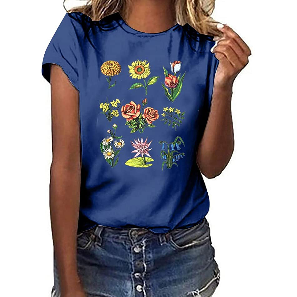 Gifts for Women Womens Tops T Shirts for Women 80s Clothes for Women Birthday Gifts for Women D-Navy