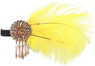 Radtengle Great Gatsby Inspired Feather Headpiece for Women Roaring 20s Flapper Headband Hair Accessories