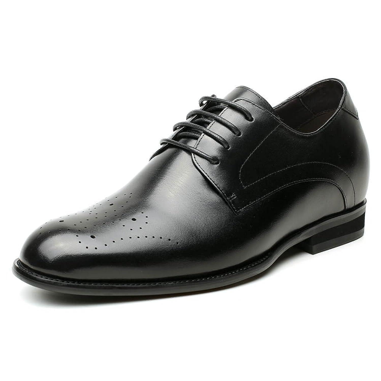 [Chamaripa] JP 底上げ靴 シークレットシューズ 7cmUP 背が高くなる 本革 メンズ ビジネスシューズ 外羽根 H81D37K021D