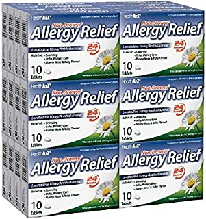 HealthA2Z Allergy Relief, Non-Drowsy, Loratadine 10mg/Antihistamine, 24 Packs of 10 Tablets(240 Tablets Total),Value Package