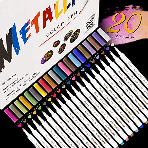 Rotuladores Metálicos, Rotuladores Emooqi, 20 colores surti
