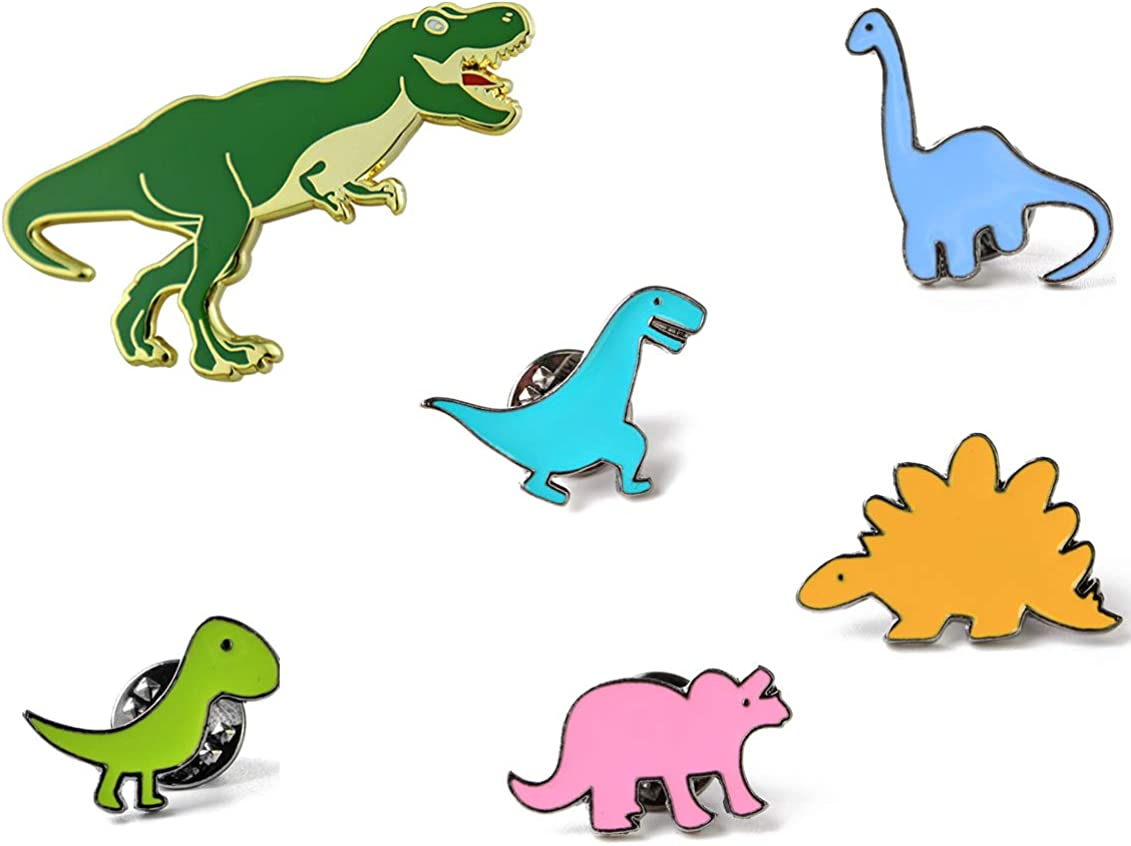 Dinosaur Pins for Backpacks Jurassic Dinosaur Enamel Pin Set Cute Enamel Pins