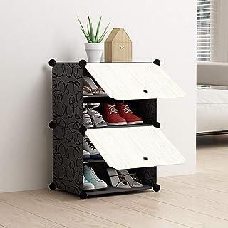 XWZH Cabinet de Chaussures Anti-poussière 2- Cube imbriquée Porte-Armoire Armoire Armoire Debout Cube Rangement étagères O...