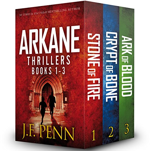 Arkane Thrillers, Books 1 - 3     Stone of Fire, Crypt of Bone, Ark of Blood              By:                                                                                                                                 J F Penn                               Narrated by:                                                                                                                                 Veronica Giguere                      Length: 19 hrs and 39 mins     19 ratings     Overall 3.6