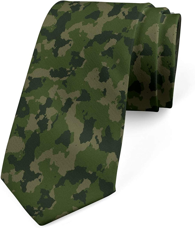 Ambesonne Men's Tie, Warrior Fashion Camo, Necktie, 3.7