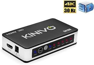 Kinivo 501BN 4K HDMI Switch with IR Wireless Remote (5 Port, 4K 30Hz, Auto-Switching)