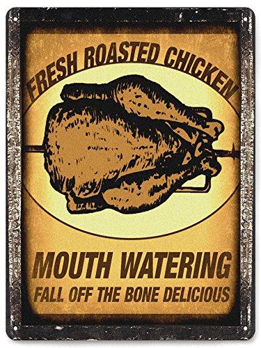 Poulet Grillé plaque en métal Restaurant de cuisine de style/vintage Deli Store Décoration murale Art 308