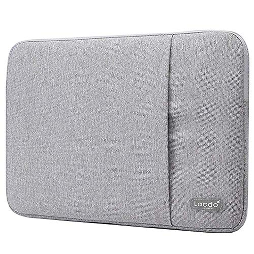Lacdo 13 Inch Waterproof Fabric Laptop Sleeve Case Compatible Old MacBook Air 13' / MacBook Pro 13.3-Inch Retina 2012-2015/12.9 ipad Pro, HP Asus Acer Chromebook Ultrabook Notebook Bag, Gray