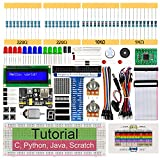 Freenove Super Starter Kit for Raspberry Pi 4 B 3 B+ 400, 411-Page Detailed Tutorials, Python C Java Scratch Code, 164 Items, 54 Projects, Solderless Breadboard