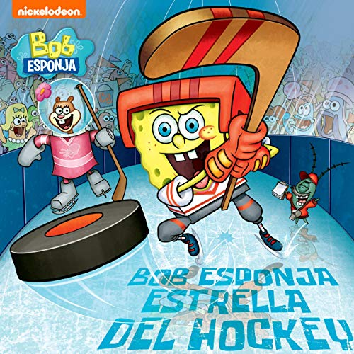 Diseño de la portada del título Bob Esponja Estrella de Hockey