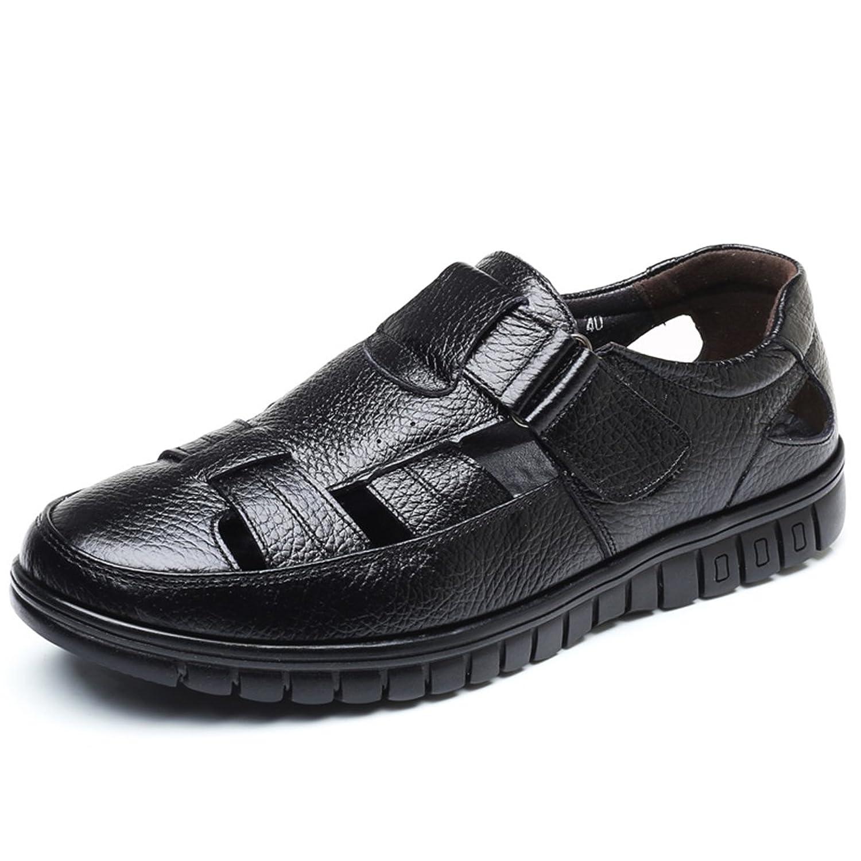 [ONE MAX] カジュアルシューズ 夏 メンズ 通気性 ベルクロ ビジネス サンダル シューズ メッシュ 通勤 軽量 ウォーキング ドライビングシューズ 紳士靴