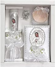 Virgin Mary Baptism Candle Set w/New Testament