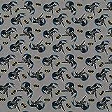 Baumwollstoff Batman, 100% Baumwolle, grau (50cm x 150cm)