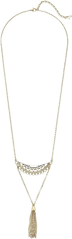 Lucky Brand - Openwork Tassel Necklace
