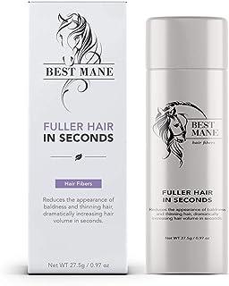 Premium Hair Thickening Fibers for Women & Men | 0.97 oz (Black)