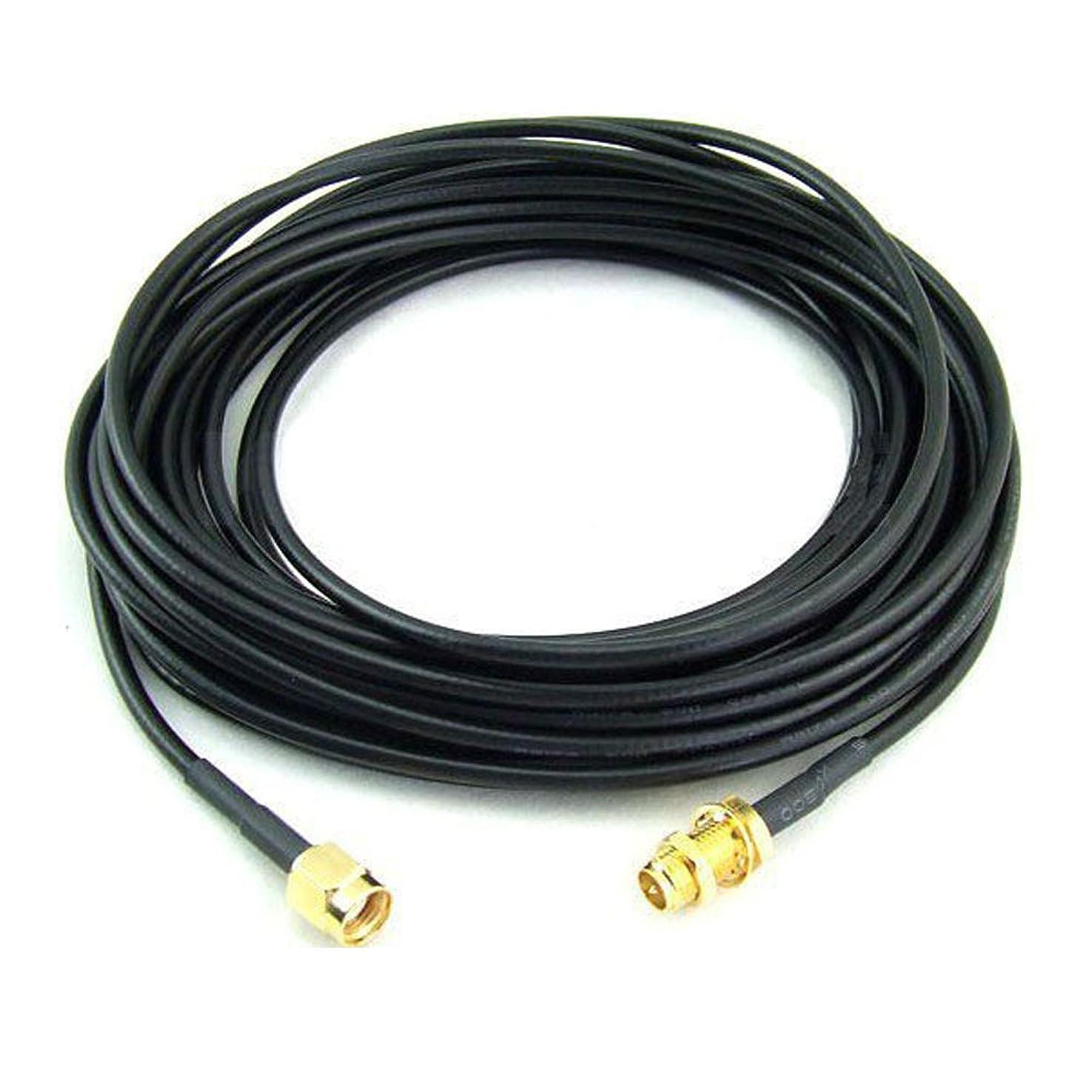 爆弾和落ちたWiFiなどの無線LAN通信に対応したRP-SMAコネクタタイプのRF 延長ケーブル RF 同軸 ケーブル長は10M